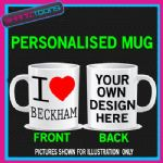 I LOVE HEART BECKHAM VICTORIA DAVID FOOTBALL MUG